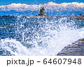 《富山県》雨晴海岸・女岩と立山連峰 64607948