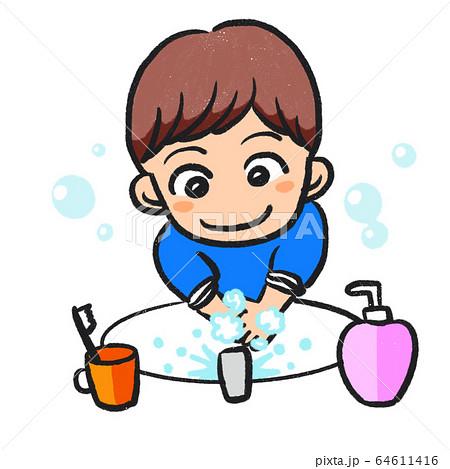 手洗いする男の子 64611416