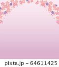 桜のアーチ背景 64611425