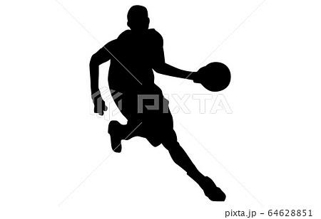 スポーツシルエットバスケットボール2 64628851