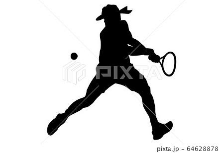 スポーツシルエットテニス9 64628878