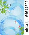 波紋-和紙-日本画-暑中見舞い-清涼感-水 64635727
