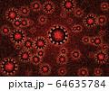 コロナウィルス顕微鏡イメージ COVID-19 64635784