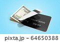 concept of cash withdrawal payment by card dollar 64650388