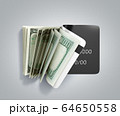 concept of cash withdrawal payment by card dollar 64650558