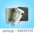 concept of cash withdrawal payment by card dollar 64650745