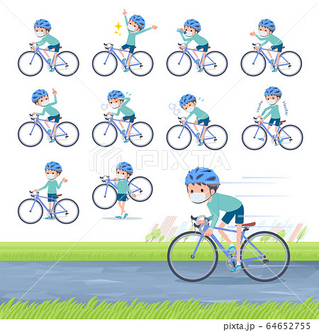 flat type mask blue clothing boy_road bike 64652755