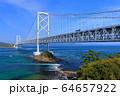 大鳴門橋と鳴門海峡 64657922