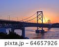 大鳴門橋の夕景 64657926