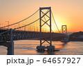 大鳴門橋の夕景 64657927
