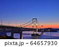 大鳴門橋の夕景 64657930