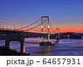 大鳴門橋の夕景 64657931