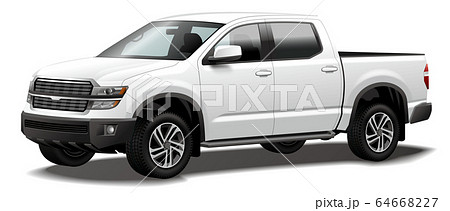自動車イラスト ピックアップトラック pickup truck 商用車 オリジナルデザイン 64668227