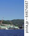 長崎の造船所のある風景 64674687