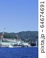 長崎の造船所のある風景 64674691