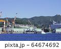 長崎の造船所のある風景 64674692