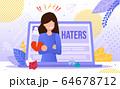 Online Hatters Victim Trendy Flat Vector Concept 64678712