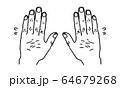 指毛と汗(シンプル) 64679268