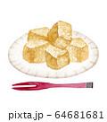 わらび餅 和菓子 水彩 イラスト 64681681