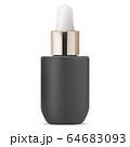 Serum dropper bottle. Black cosmetic oil drop vial 64683093