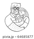 Lovely Beautiful Couple Holding Baby in Their arm 64685877