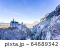 雪景色とノイシュバンシュタイン城 64689342