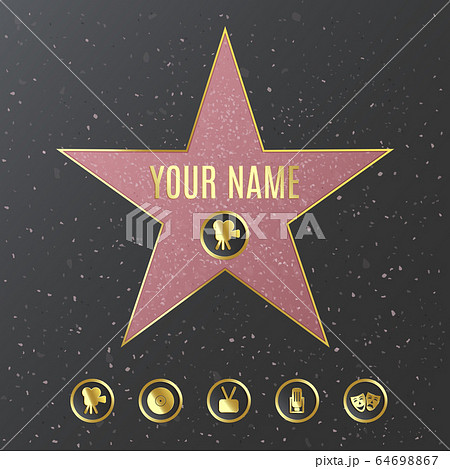 Hollywood walk of fame star name template - realistic mockup 64698867