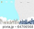 都市 晴れ 雨 風景 64706568