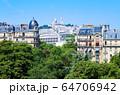 パリの街並み サクレクール寺院 フランス 64706942