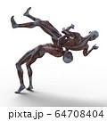 男性 解剖 筋肉 3DCGイラスト素材 64708404