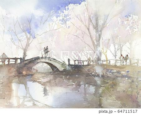 ひょうたん池の春 64711517