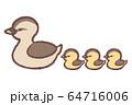 カルガモ親子2 64716006