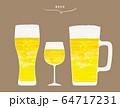 おしゃれな飲み物 ビール イラスト  64717231