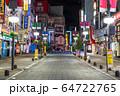 《東京都》人の消えた歌舞伎町・自粛ムードの東京 64722765