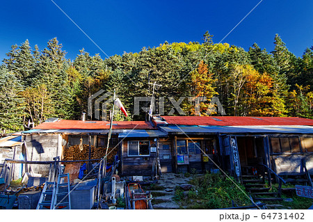 秋の南アルプス・鳳凰山・南御室小屋 64731402