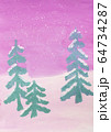 Children winter landscape drawing shot 64734287