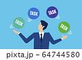 タスク管理のイラストイメージ 64744580