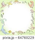 恐竜のフレーム4 64760229