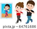 オンライン 動画配信 ダンス 男女 イラスト 64761686