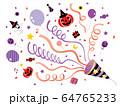 クラッカー_ハロウィン01紫赤 64765233