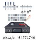 調理器具のあるキッチンの風景 64771740