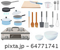 調理器具やコンロのアイコンセット 64771741