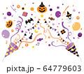 クラッカー2つ_ハロウィン01紫 64779603