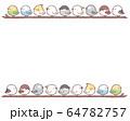 鳥フレーム枝 64782757