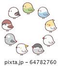 鳥フレーム丸 64782760