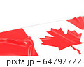 3D of Rippled Cnada Flag with White Background For 64792722
