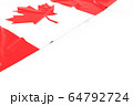 3D of Rippled Cnada Flag with White Background For 64792724