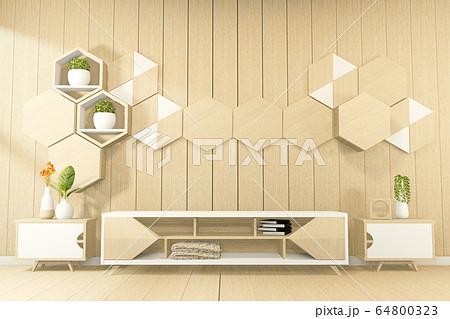 Tropical style - japanese room interior - minimal 64800323