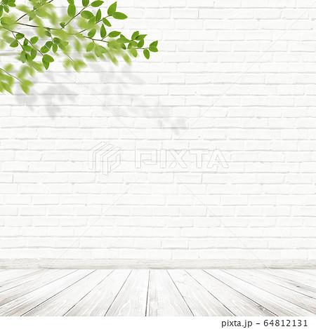 背景-壁-床-煉瓦-白-枝 64812131