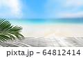 背景-夏-海-ビーチ-風景-イメージ 64812414